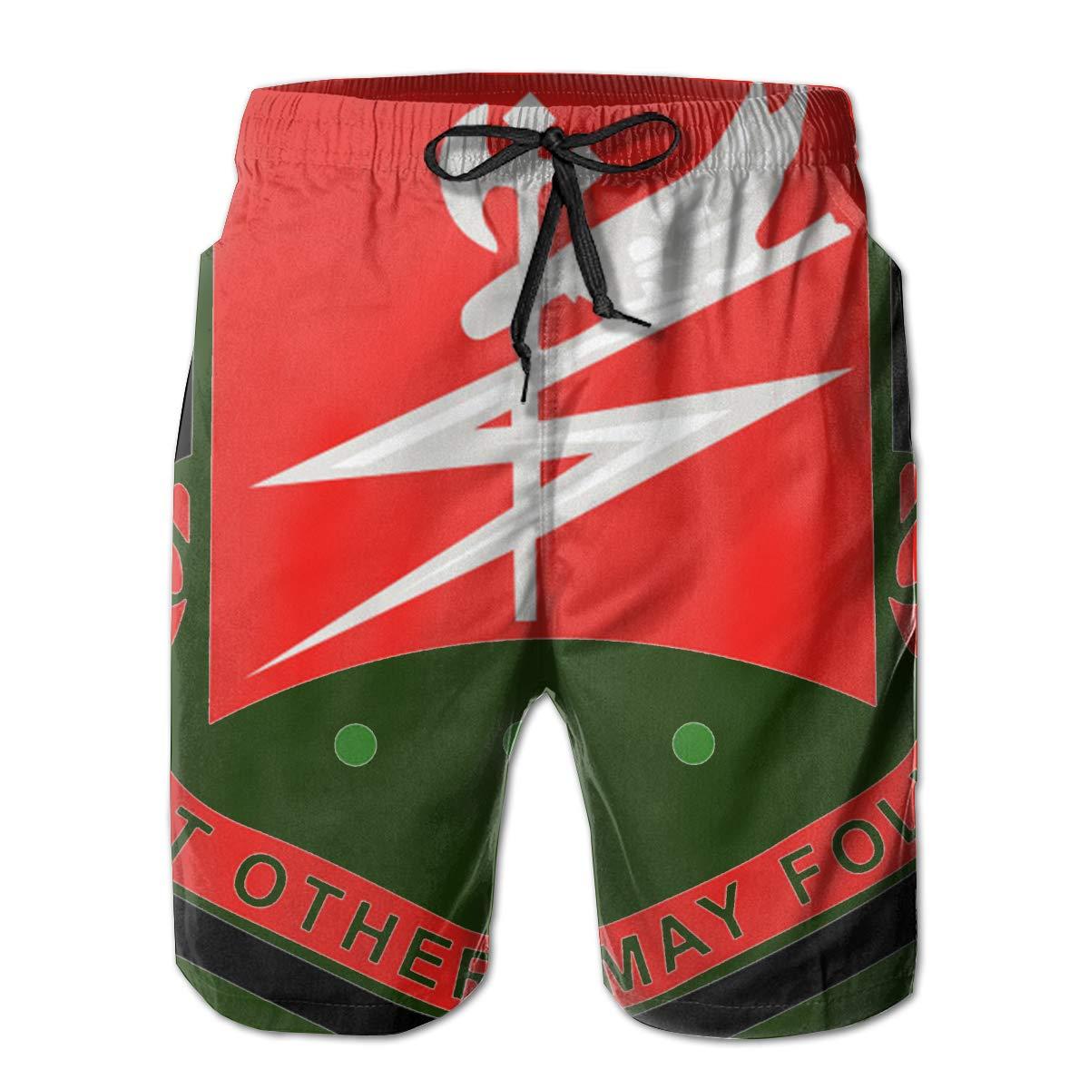 127th Airborne Engineer Bn Wo Txt Mens Swim Trunks Board Shorts