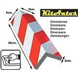 KitAutos PP40ER Para angoli per parcheggio, 40 x 18 cm, 2 cm di spessore