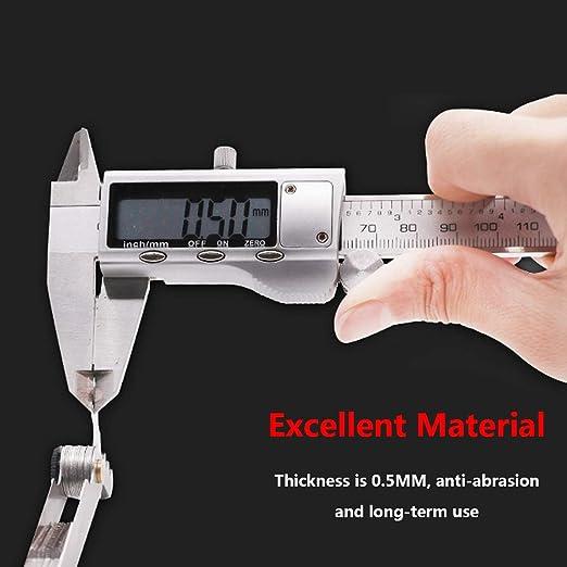 2 Pcs Stainless Steel Metric Screw Pitch 60+55 Degree Thread Measuring Gauge