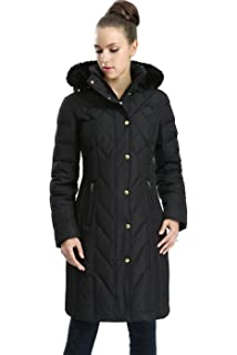 70de93150b1 Amazon.com  BGSD Women s Eva Hooded Waterproof Down Coat (Regular ...