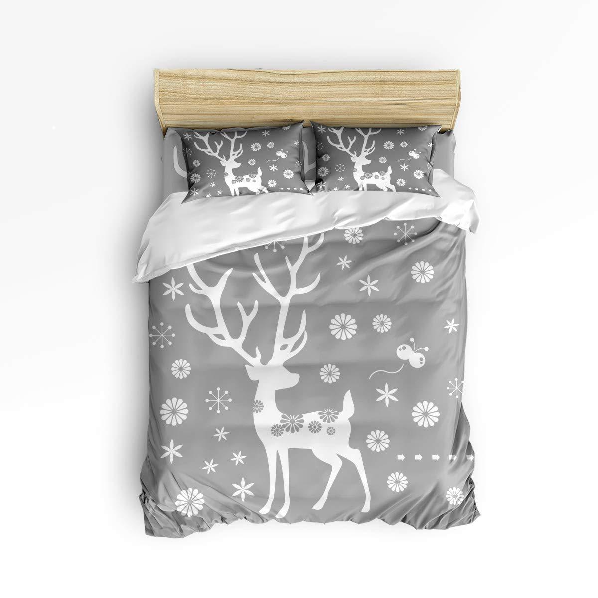 BMALL 羽毛布団カバーセット 美しい風景 ソフト スタイリッシュ ホームインテリア 掛け布団カバーセット King Size 20181115LCZBMALLSJTSLSZ00369SJTDBML B07KKHDQSW Merry Christmas72bml6045 King Size