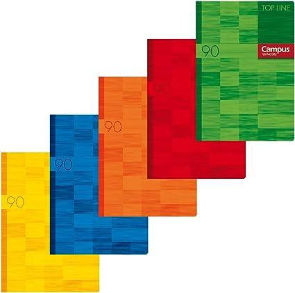 Campus University Top Line - Libreta grapada, 48 hojas, 90 g, cuadrícula 4 mm, A4: Amazon.es: Oficina y papelería
