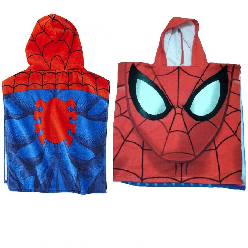 Poncho asciugamano Spiderman Marvel Ultimate microfibra