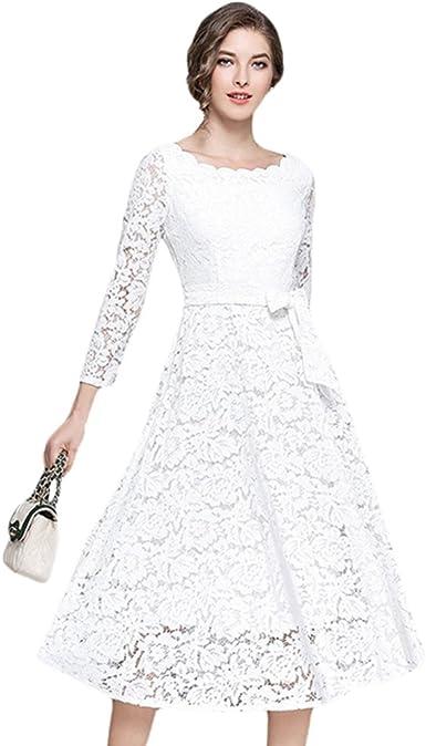 Abiti In Pizzo Eleganti.Yilianda Donna Vestiti In Pizzo Eleganti Da Cerimonia Abito