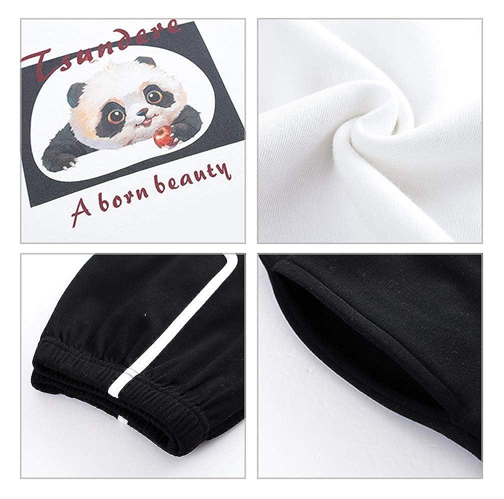BYXAC Big Girls Summer Shorts Pajama Cute Panda Sleepwear Lovely Child Loungwear