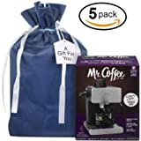 """XLarge Premium Fabric Gift Bags Organza with lining and Satin Ribbon Holiday Christmas – 23.25"""" x 16"""" For Extra large gifts, coffee maker, small appliances and large toys ( Pack of 5 )"""