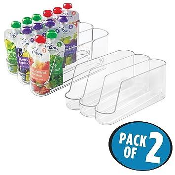 Gläser Aufbewahrungsboxen mdesign 2er set babynahrung organizer aufbewahrungsboxen mit 3