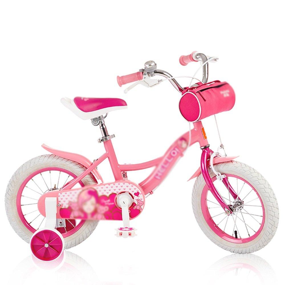 HAIZHEN マウンテンバイク 子供用自転車ガールズ自転車マウンテンバイク12インチ14インチ16インチベビーキャリッジ 新生児 B07C6F6NNJ 14 inch-pink 14 inch-pink
