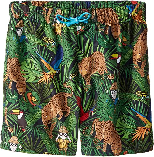Dolce & Gabbana Kids Boy's Mid Swim Boxer (Big Kids) Blue Print 8 by Dolce & Gabbana