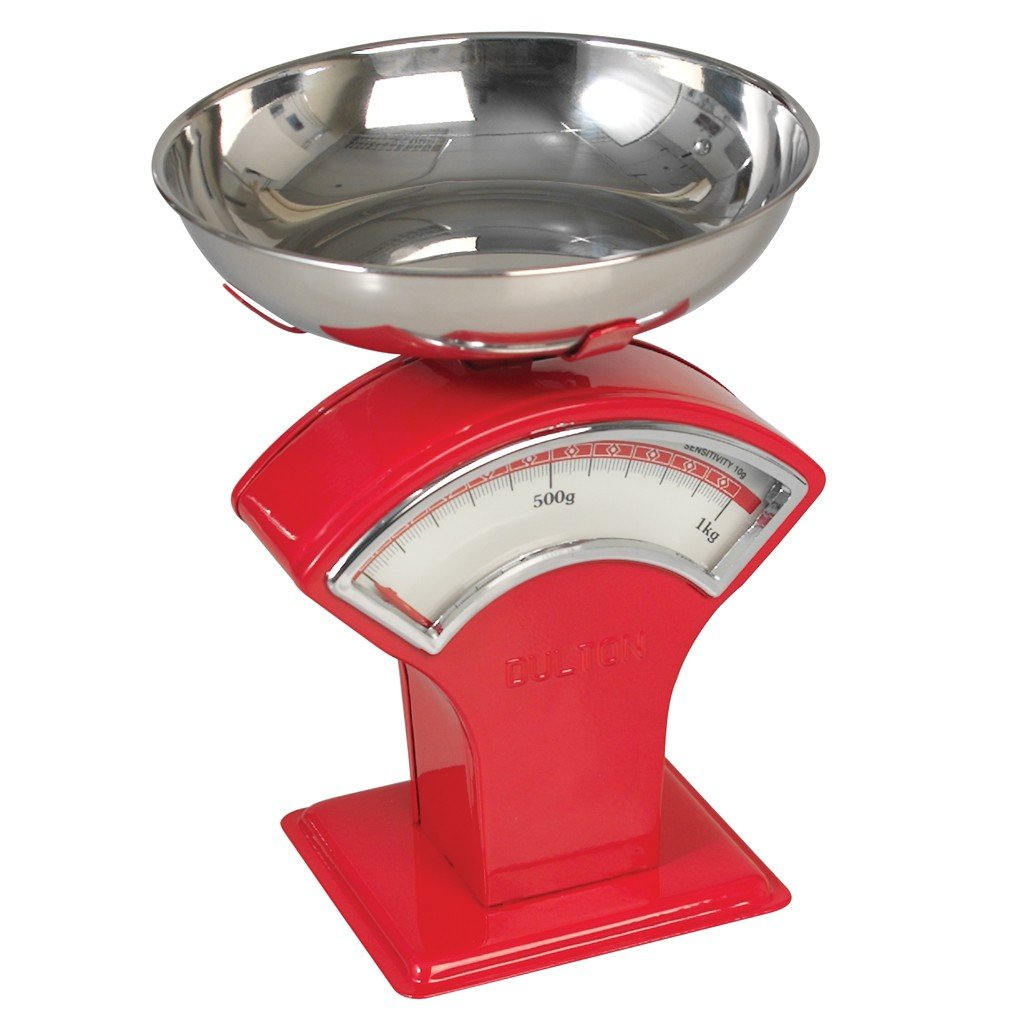 Vintage Shop Mechanical Kitchen Scales - Choice Of Colour (Red) Rex International Ltd