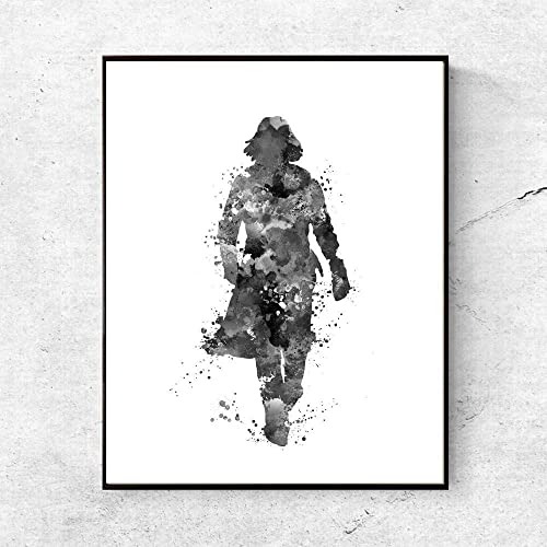 6777e4f33 Image Unavailable. Image not available for. Color  Harry Potter Severus  Snape Art Print Black Watercolor Illustration Always ...