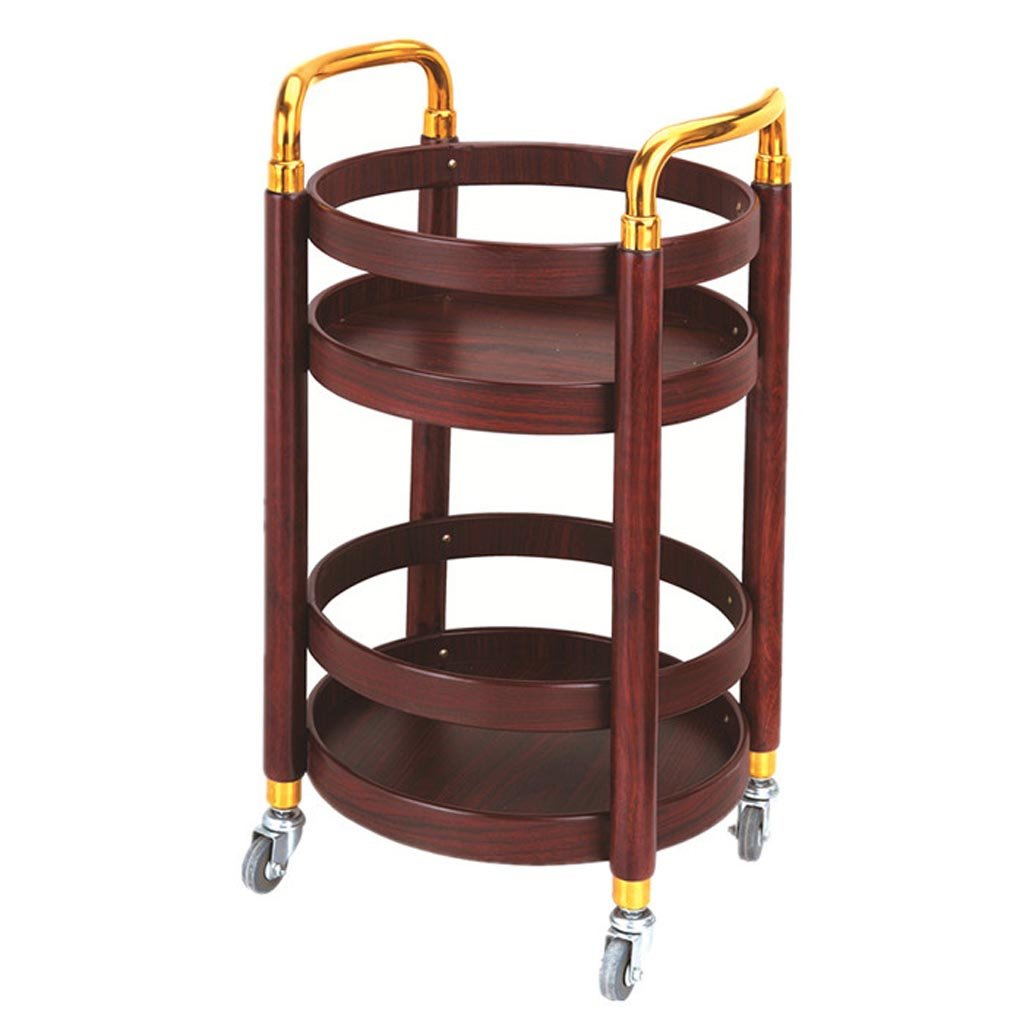 ZQZ Serving Cart Trolley - Mobile Tea Cart Wine Cart Snack Car Hotel Trolley Trolley Tool Rack Utility Cart (Color : A, Size : 40 * 40 * 77cm)