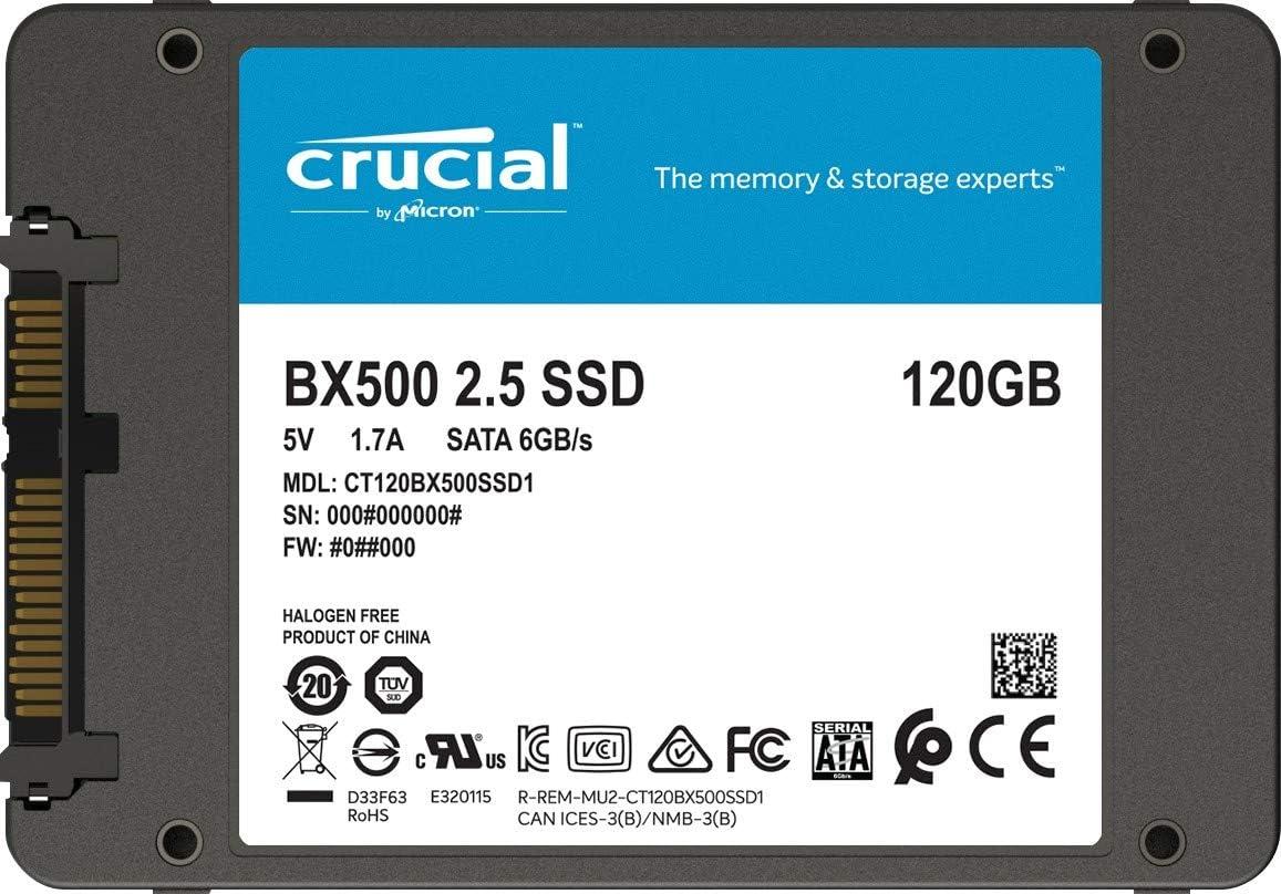 Crucial BX500 CT120BX500SSD1 Disco Duro Sólido Interno SSD de 120 ...