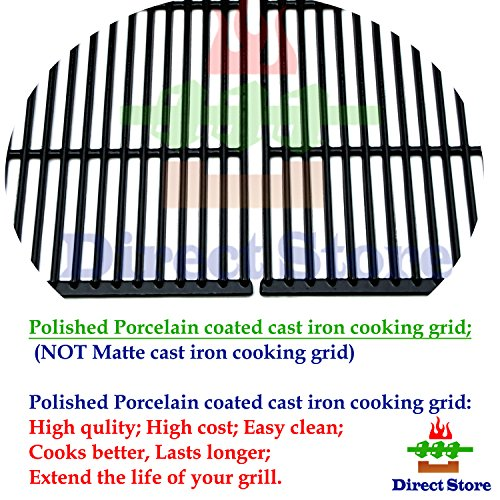Direct store Parts DC107 Polished Porcelain Coated Cast Iron Cooking Grid Replacement Charmglow,Jenn-Air,Weber,BBQ Grillware,Costco Kirkland,Aussie,Grill Zone,Kenmore,Nexgrill.Gas Grill