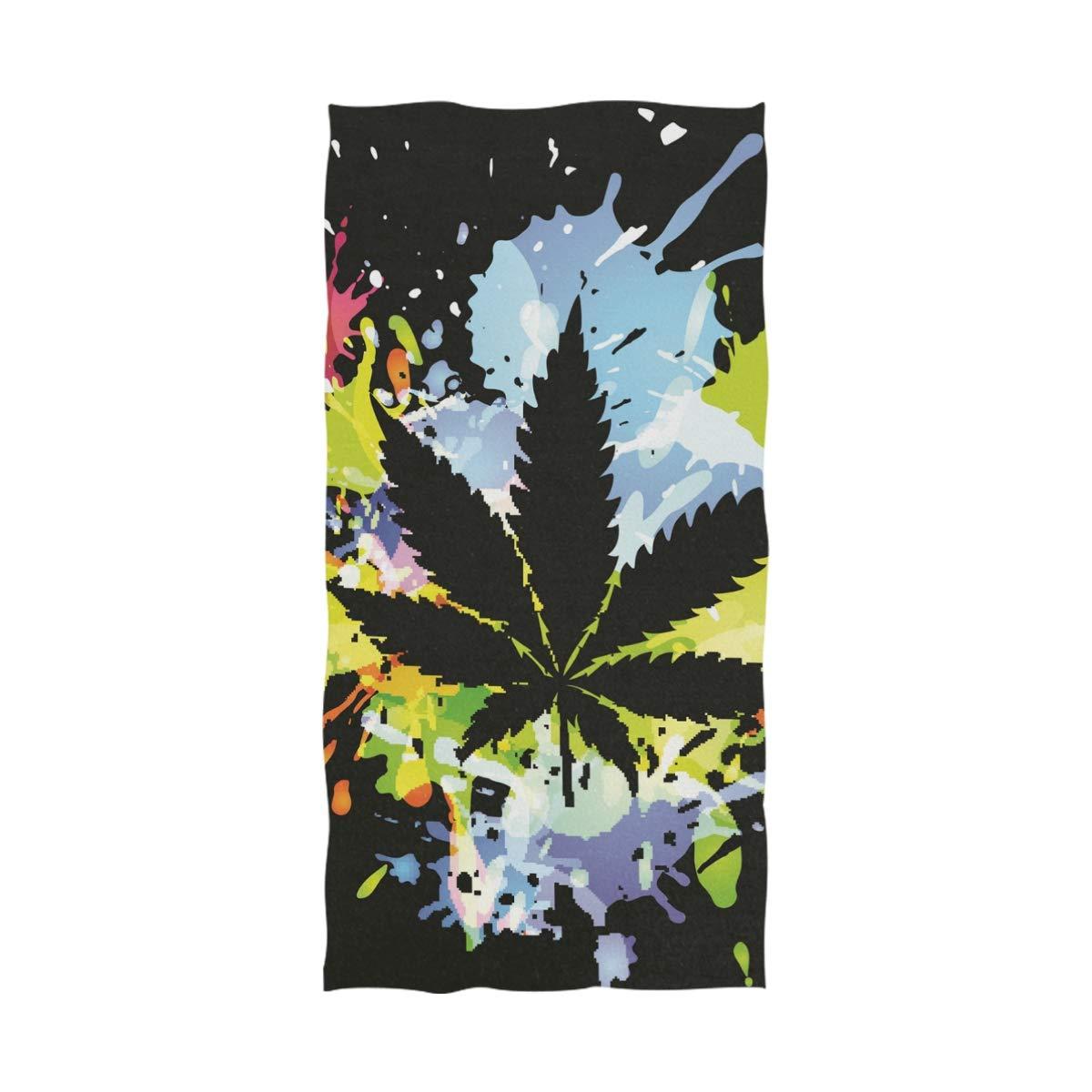 Ahomy - Toalla de baño (81 x 162 cm), diseño de Hojas de Marihuana: Amazon.es: Hogar