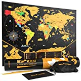Scratch Off Map of The World, Detailed Travel Art Poster, Fits 17