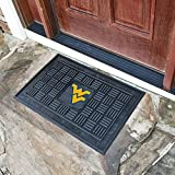 Fanmats Sports Team Logo West Virginia University Medallion Door Mat