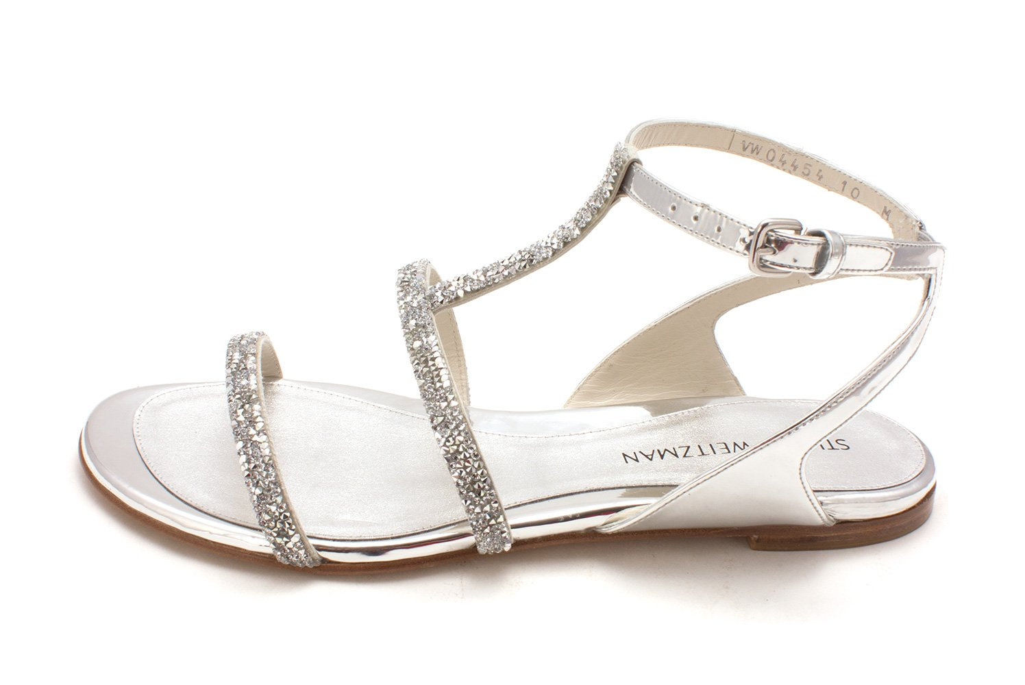 Stuart Weitzman Womens SweeTee Open Toe Special Occasion, Tin Glass, Size 10.0