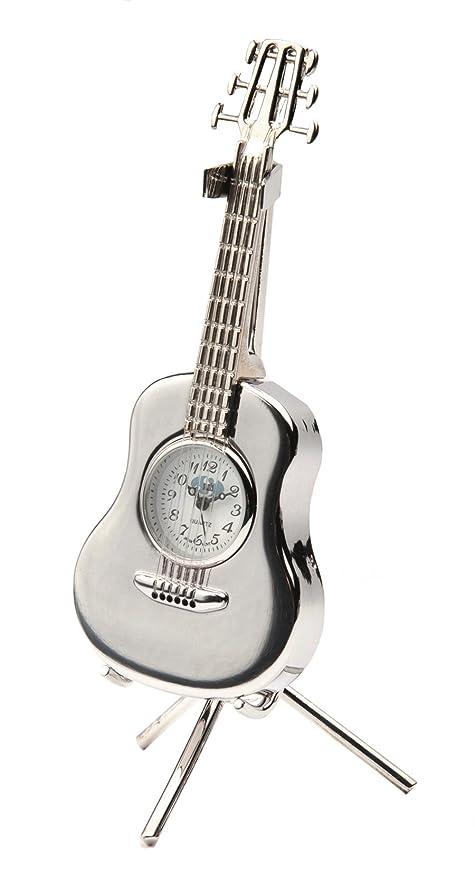 Amazon.com: Sanis Enterprises reloj de guitarra acústica con ...
