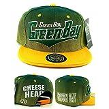 Green Bay New Top Pro Cheesehead City II Packers Green Gold Era Snapback Hat Cap