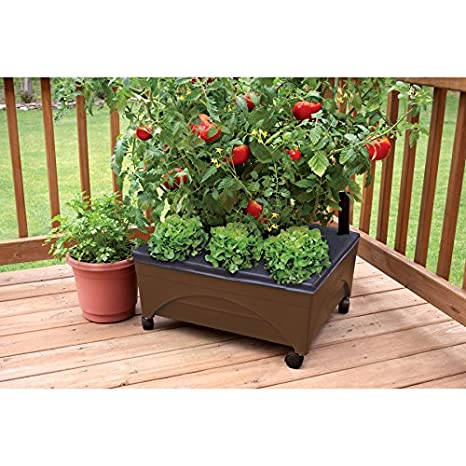 amazon com earth brown resin raised garden bed grow box kit with rh amazon com patio pickers garden kit patio pickers garden kit