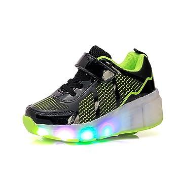 Nuevo Niño Heelys Jazzy, Junior Niñas Niños Luz LED Heelys zapatos de para patines para niños zapatillas deportivas con ruedas, negro, 1: Amazon.es: ...