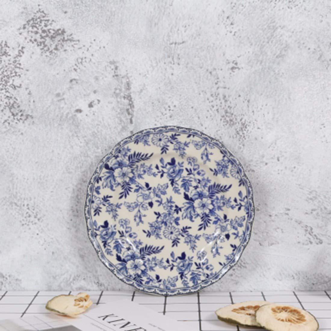 QPGGP-Teller British Household Platten, blau - weißem Porzellan, westliche Gerichte der europäischen küche,e