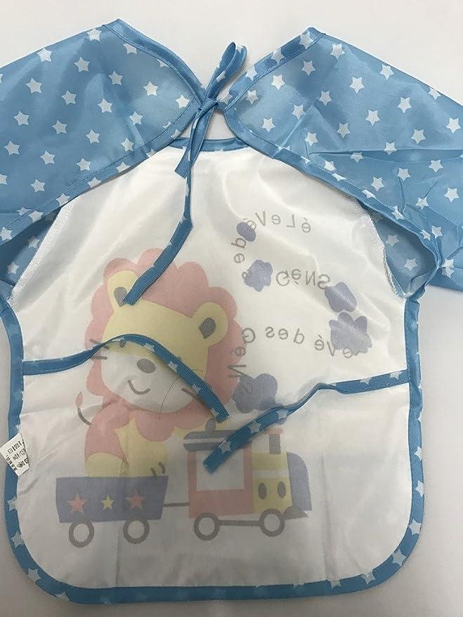 JT-Amigo Babero con Mangas Impermeable para Bebé Niños (Pack de 3): Amazon.es: Bebé