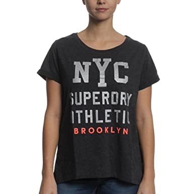 cf00f6219095 SUPERDRY Worn Wash BF Tee Women at Amazon Women's Clothing store: