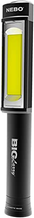 Nebo Big Larry black 400 Lumens C-O-B LED Work Light Flashlight (3 AA Batteries Included),
