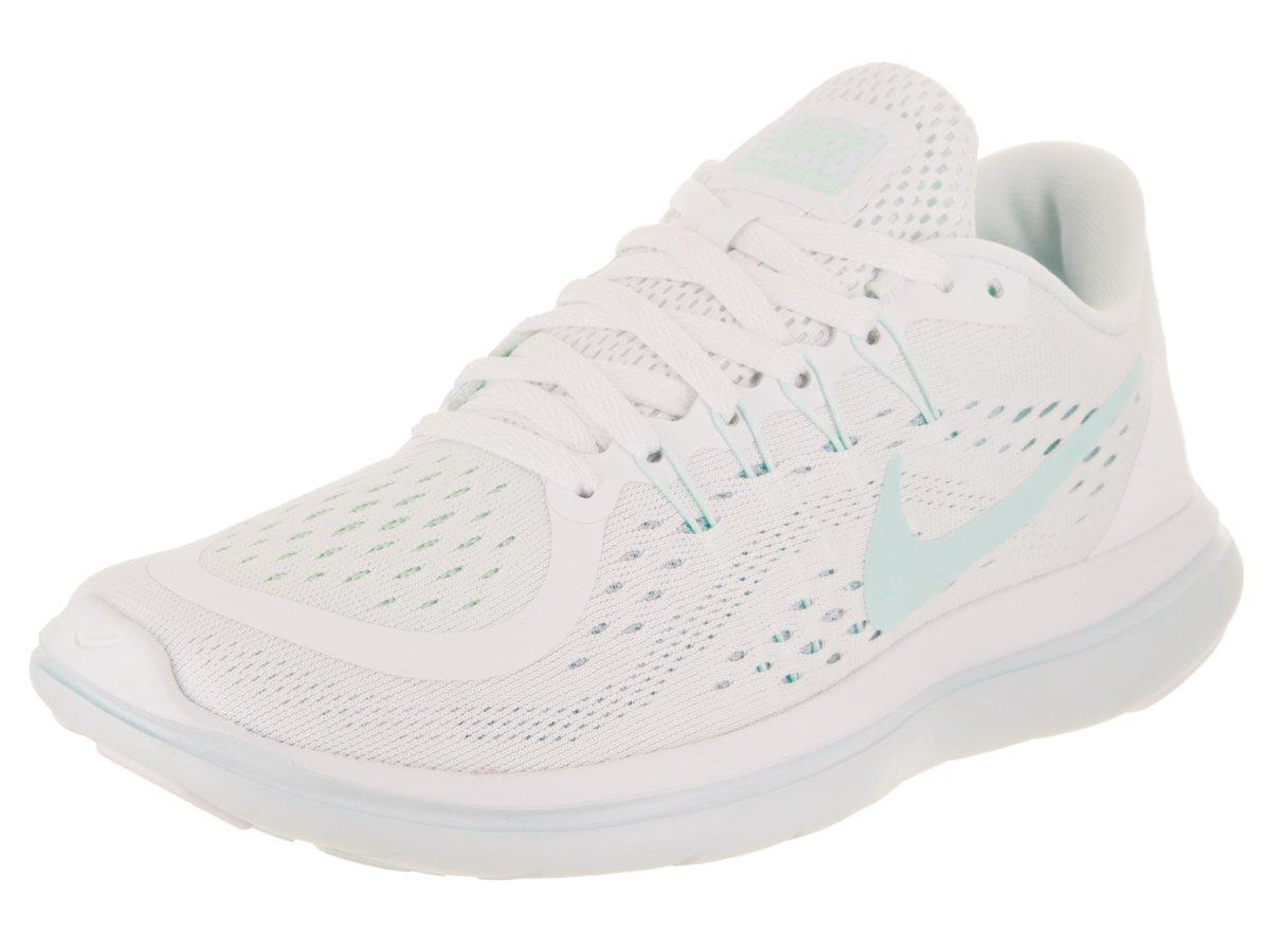 NIKE Women's Flex 2017 RN White/Glacier Blue-Blue Tint Running Shoes (8.5 B US)