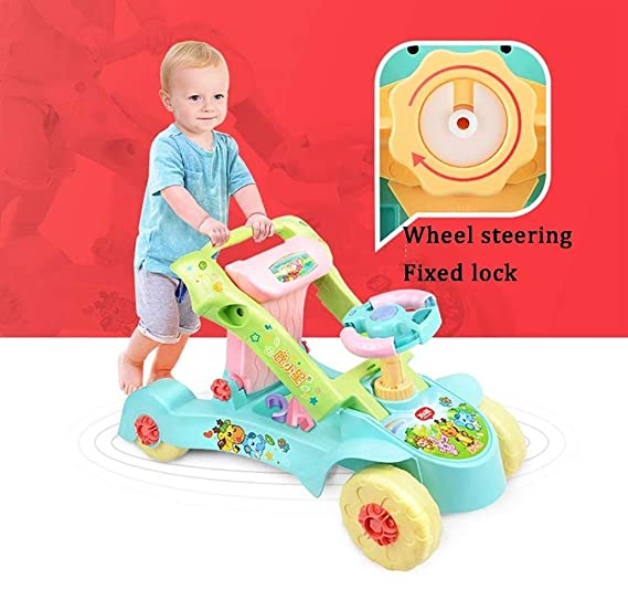 LMSTC Coche Twist For Niños, 2 En 1 Toddler Walker, Deformación ...