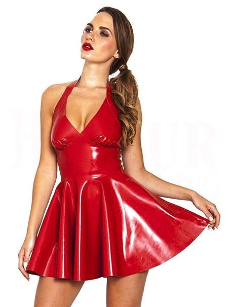 SexyGF Nuevo Falda Corta de Cuero sintético de PVC Vestido de ...