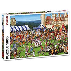 Piatnik 138176 Cm Ruyer Torneo Dei Cavalieri Puzzle Da Pezzi