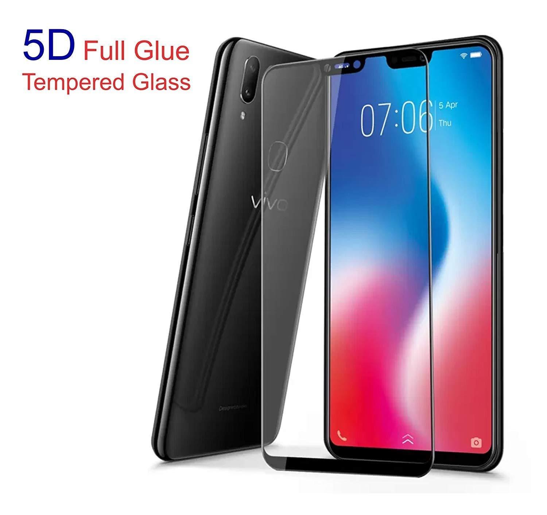 FASHIONISTA Full Glue 5D Tempered Glass for Vivo V9 (Black)