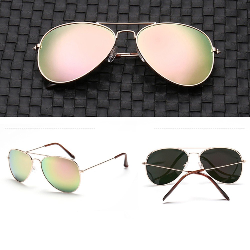 Jersh ★ Premium Al-Mg Alloy Pilot Polarized Sunglasses UV400 Full Mirrored Spring Hinges Sun Glasses for Men Women