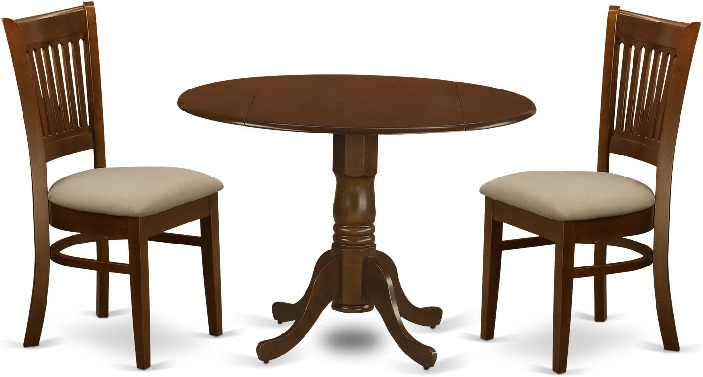 DLVA3-ESP-C 3 Pc2-drop-leaf Dining Table and 2 Dining Chairs