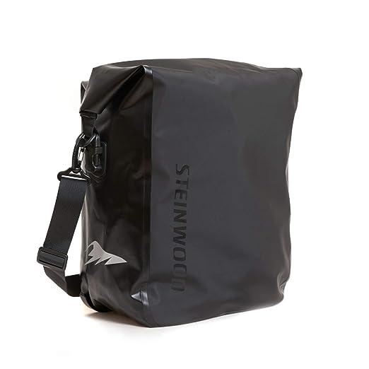 Steinwood Premium Fahrradtasche für Gepäckträger Umhängetasche Fahrradrucksack Satteltasche Gepäckträgertasche Unisex Wasserd