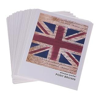F Fityle 40 Pezzi Carte di Cartoline d'Epoca Retro Bandiera Carta Kraft di Carta