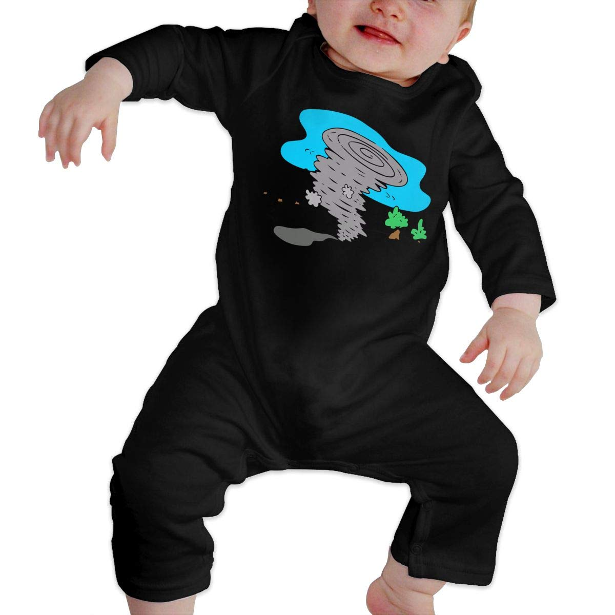 Tornado Water Tree Baby Boy Long Sleeve Romper Jumpsuit Infant Romper Jumpsuit Onsies