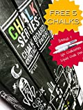 ChalkSeries Chalkboard Contact Paper Roll With 5 Colored Chalks & 1 Chalk Pen