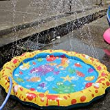Splash Water Play Mat,Sprinkle and Splash Play Mat Toy for Outdoor Swimming Beach