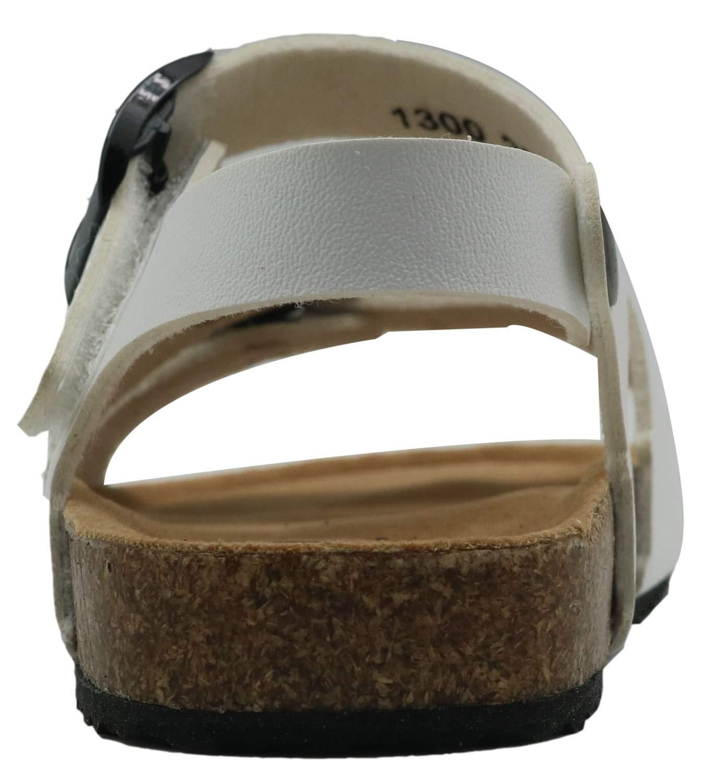 Color : Silver, Size : 10 M US Toddler Dig dog bone Toddler Girls Shoes Open Toe Buckle 3 Strap Ankle Hook Sandals