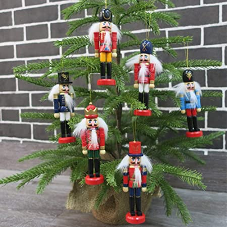 4pcs Christmas Tree Decorations Nutcracker Decoration Nutcracker Pendant Xmas Gift Christmas Favors