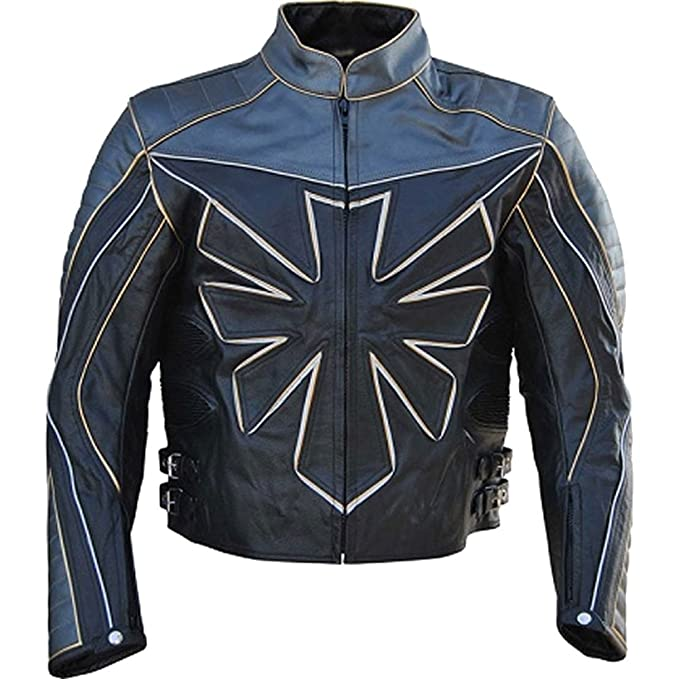 Giacca it Classyak In Da Uomo Amazon Pelle Moto Triumph Custom Vera q4RXxgv