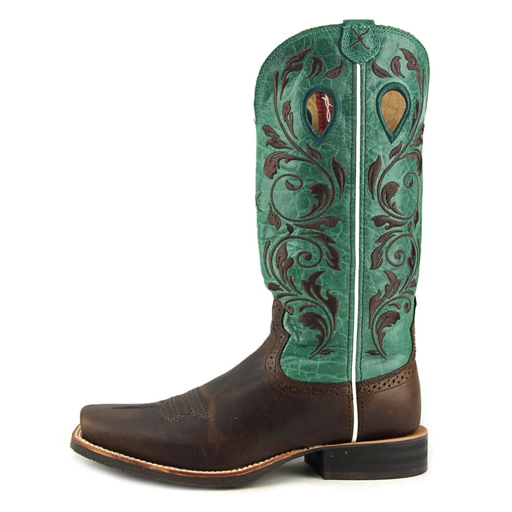 Twisted X Stock Ladies Sq Cho/Tur Ruff Stock X Boots B00CHAL780 5.5 B(M) US|Chocolate ee0204