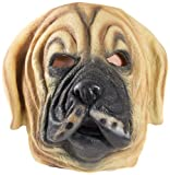HMS Dog Realistic Animal Mask, Brown, One Size