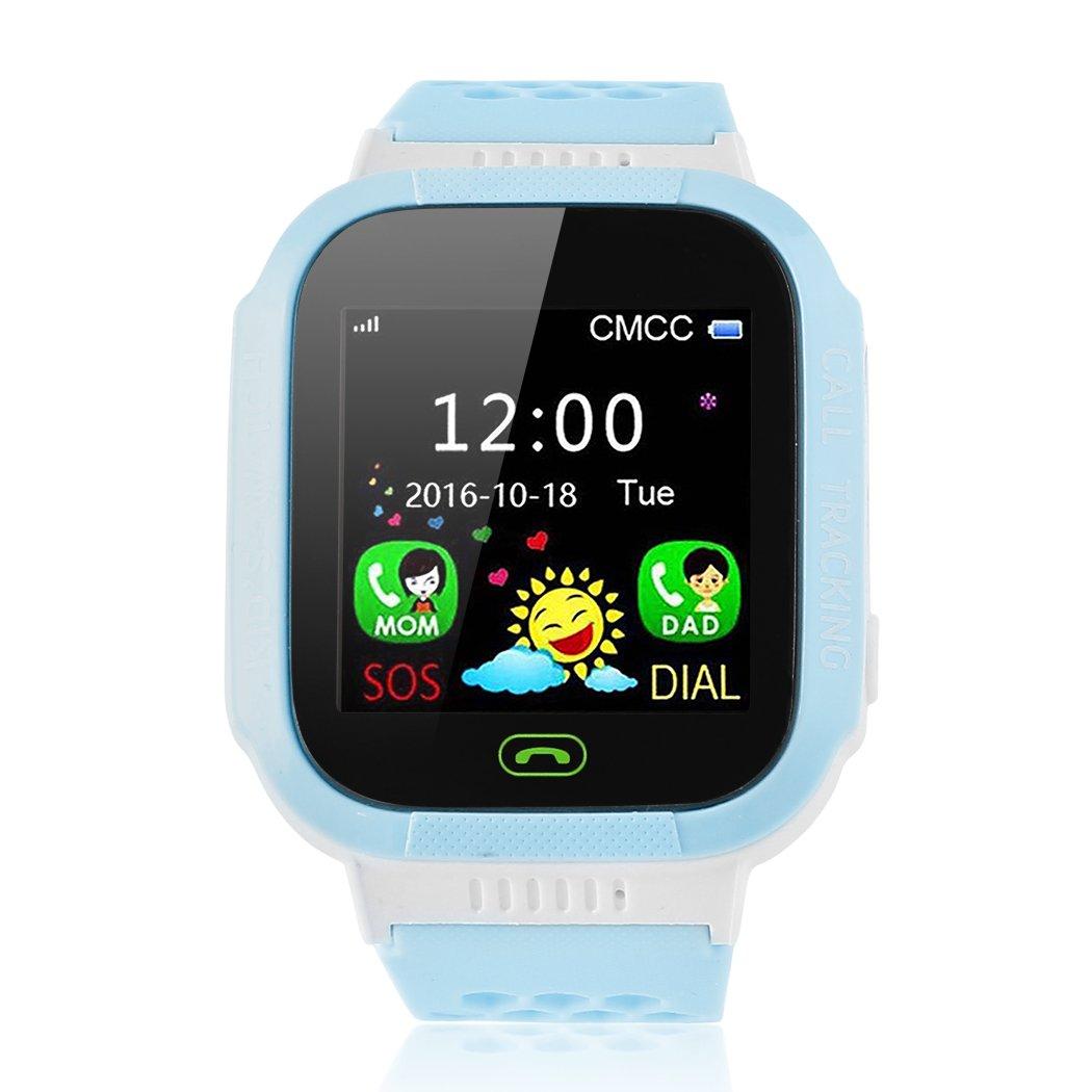 XWDA Kids Smart Watch Cellphone Bluetooth GSM Locator LBS SOS Call Children Phone Flashlight