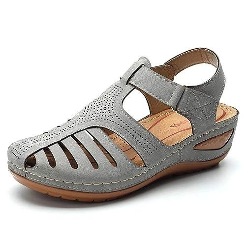 Fannyfuny_Zapatos Mujer Sandalias Gladiador Casuales ...