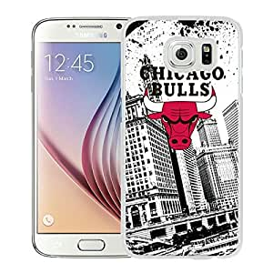 Lovely And Unique Designed Case With Chicago Bulls White For Samsung Galaxy S6 Phone Case